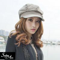 2015春季青岛帽厂供应流行无花欧式女式潮流贝雷帽,八角帽