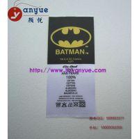 供应商标丝网印 高档商标丝网印 杭州高档商标丝网印