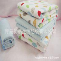 竹纤维隔尿垫  法兰绒加厚防尿湿 婴儿隔尿垫可洗有机棉 大号
