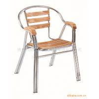 供应铝木椅户外家具水曲柳实木椅子双管实木餐椅奶茶甜品简约阳台木椅