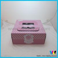 广东出口工厂 专业定做纸质包装 手提瓦楞蛋糕包装纸盒