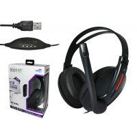 科麦USB-KM9400 头戴护耳笔记本电脑游戏通用耳机耳麦 带独立声卡