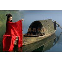 6m仿古乌篷船 水上手划船 休闲观光船 木质乌蓬船 景区旅游船