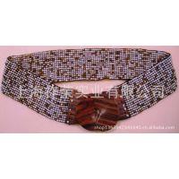 [厂家直销]手工串珠腰带 米珠松紧腰带 珠珠弹性腰带 珠绣腰带