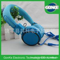 荧光色头戴式耳机 可爱手机麦克风头戴耳机支持手机苹果安卓手机