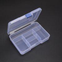 厂家批发透明塑料收纳盒 滑扣5格零件盒 饰品串珠盒 化妆盒批发