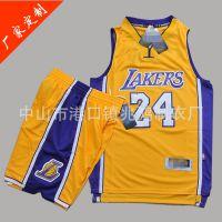 篮球服套装定做 NBA科比篮球衣 训练运动比赛男队服定制儿童球衣