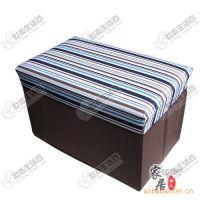 优质无纺布 可折叠 储物凳/收纳凳 长方形蓝白条纹