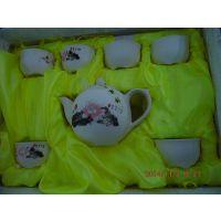 淄博商务礼品雪花茶具7头雪花茶具批发 淄博批发优质陶瓷茶具