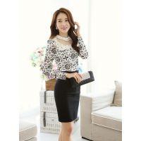 2014秋装新款女装打底衫韩版淑女修身气质长袖蕾丝衫