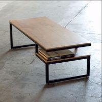 美式LOFT风格铁艺复古实木家具茶几客厅阳台沙发茶几电脑桌