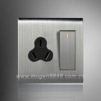一开双控三孔16A开关插座带开关空调热水器拉丝插座特价
