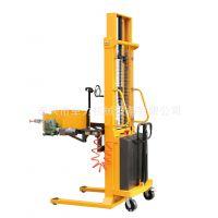 供应优质电动油桶翻转车(2节门架),半电动油桶堆高车