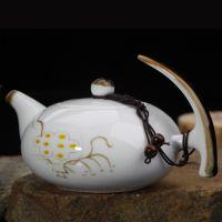 景德镇手绘陶瓷茶壶 功夫茶具套装 釉下彩茶壶 青花茶壶批发