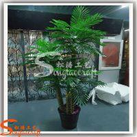 厂家直销室内装饰植物 pu家居绿色盆栽葵树 环保绿化装饰树