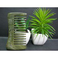 精品刻花高档绿檀木梳子 多款可选 随身携带包包梳子