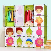 索尔诺环保树脂塑料卡通儿童宝宝衣橱 简易批发/来样生产/代加工