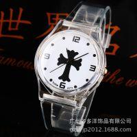 供应新款简单刻度透明塑胶手表 儿童手表批发 173069