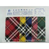 热销 皮料压布纹网纹印苏格兰格子 皮料起毛布底彩色格子印花皮革