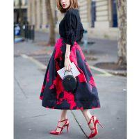 2014秋冬新款欧美加绒长袖卫衣套装裙女修身印花连衣裙套装女