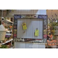 ZAKKA壁挂式照片留言架 美式乡村铁丝网层架 墙面装饰架