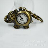 外贸热销复古挂件表  个性钥匙扣挂件手表 腰饰怀表男女士挂件表