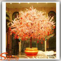 供应环保塑胶仿真树 玻璃钢树脂桃花树