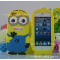 卑鄙的我小黄人 苹果5 4手机壳 Iphone5C神偷奶爸 硅胶保护套