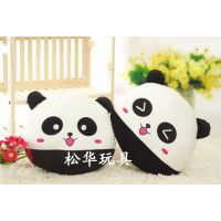毛绒玩具熊猫公仔 快乐黑白熊猫靠枕浪漫生日礼物创意