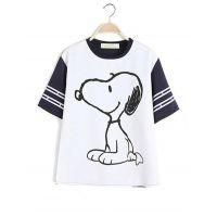 2014来自星星的你白色史努比短袖T恤中大专业烫画升华印花贴布