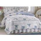 Bags Print Patchwork Quilt Bedding Set Queen Size With Twill Style