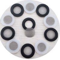 YF硅胶包边滤片4分过滤网垫片DN15软管过滤网304不锈钢