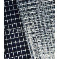 生产供应箱包布、PVC透明夹网布、透明大方格布料