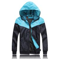 外贸EABY速卖通批发 春秋男士拼色撞色夹克冲锋衫外套外贸 JK01
