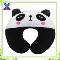 供应卡通多功能毛绒护颈枕 U型颈枕 熊猫U型枕