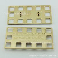 厂家专业定做金属镂空logo标牌 锌合金方镀金标牌 箱包标牌制作