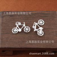 S925银挂件吊坠批发 自行车 脚踏车 圣诞节情人节创意礼品零件