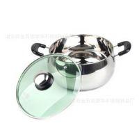 不锈钢24cm汤锅不锈钢本色10-20元珍珠汤锅欧盟环保免费寄样