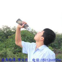 硅胶折叠水壶批发 环保运动水袋 登山旅游用品旅行水瓶