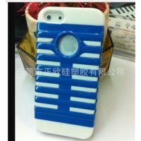iPhone5麦克风硅胶厂家 直销手机套卡通手机壳[手机保护套]礼品