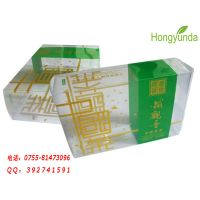 供应大量生产PVC透明盒 PVC茶叶透明包装盒 铁观音高档包装盒