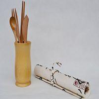 巨匠厂家定制日韩式环保竹制餐具竹餐刀 竹叉子 竹勺 餐具套装