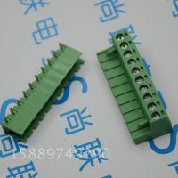绿色接线端子 2EDG 5.08mm间距 10P弯针 10位插拔式公母对插端子