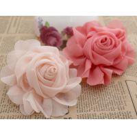 diy 手工发饰 服装配饰 包包鞋花配件 雪纺经典玫瑰花朵材料批发