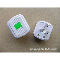 拳牛电器16A白色抗摔电源三极插头  大功率空调插头