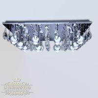 福到家厂家批发水晶方形吸顶灯客厅水晶灯酒店卧室灯 灯具批发
