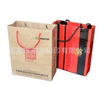 食品牛皮纸袋定做 东阿阿胶手提纸袋批量定做 购物服装手提袋