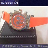 速卖通ebay货源 欧美流行镀金表壳 优质硅胶带3眼石英女士手表