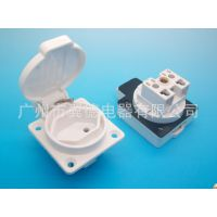 瑞士式机械设备电源插座 瑞士式户外防水插座 瑞士式机柜防尘插座