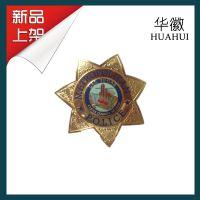 厂家专业定制 美国拉斯维加斯警察局/ 警徽 金属徽章 大胸章